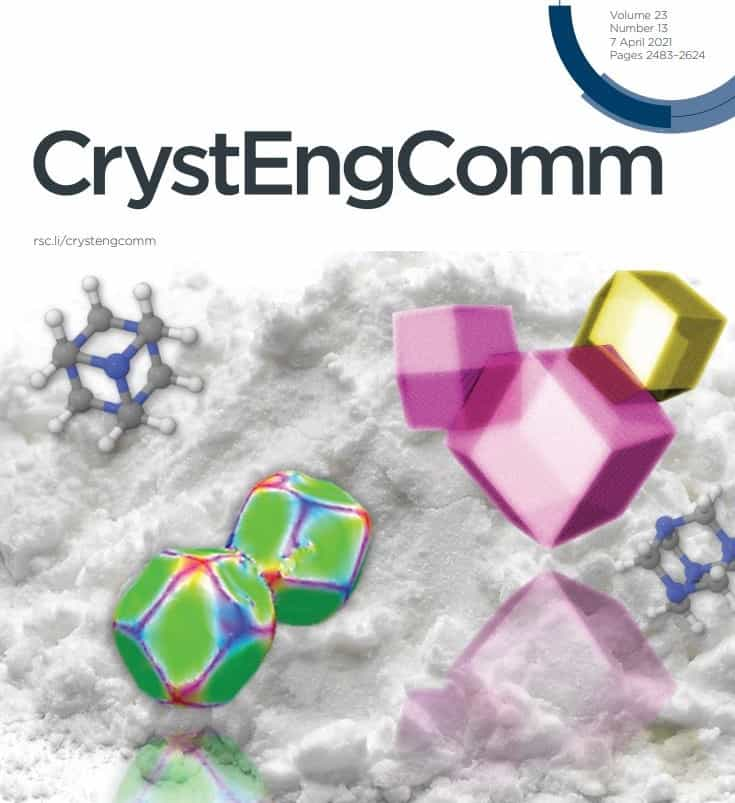 Royal Society of Chemistry JournalCrystEngComm Front Cover